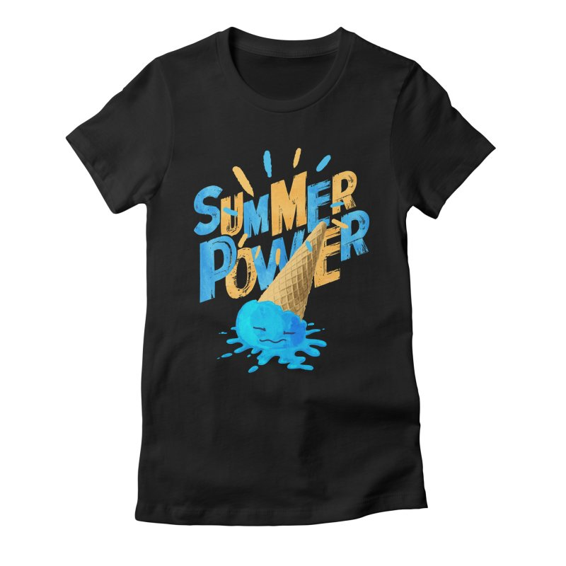 Summer Power Women's Fitted T-Shirt by Rocket Artist Shop