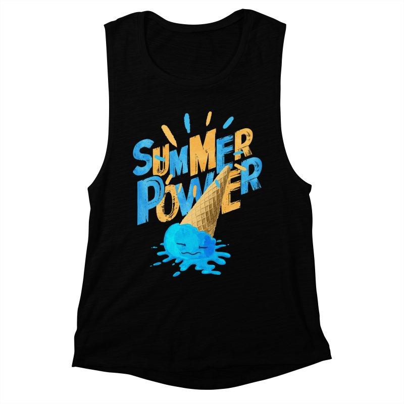 Summer Power Women's Muscle Tank by Rocket Artist Shop