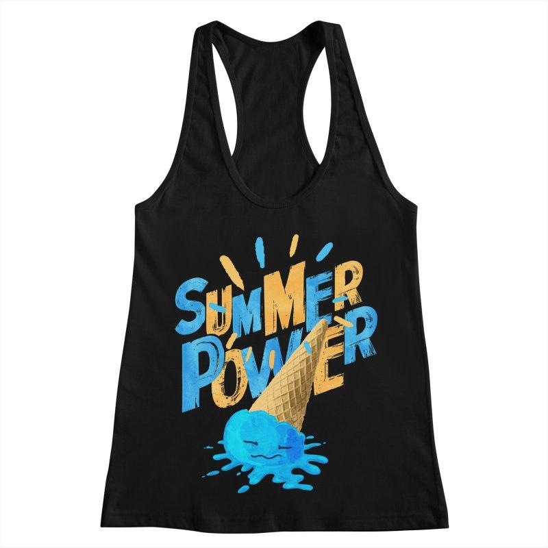 Summer Power Women's Racerback Tank by Rocket Artist Shop