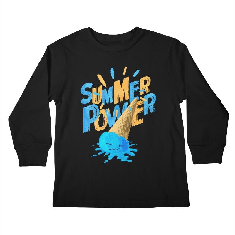 Summer Power Kids Longsleeve T-Shirt by Rocket Artist Shop