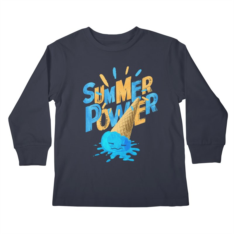 Summer Power Kids Longsleeve T-Shirt by Rocket Artist Shop