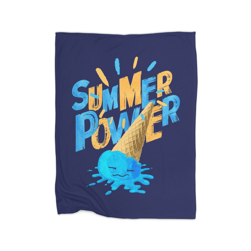 Summer Power Home Fleece Blanket Blanket by Rocket Artist Shop