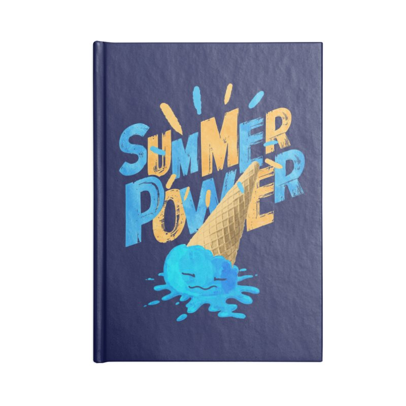 Summer Power Accessories Blank Journal Notebook by Rocket Artist Shop
