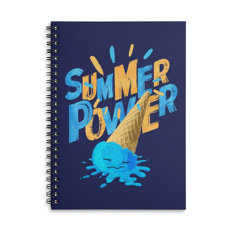 Summer Power Accessories Lined Spiral Notebook by Rocket Artist Shop