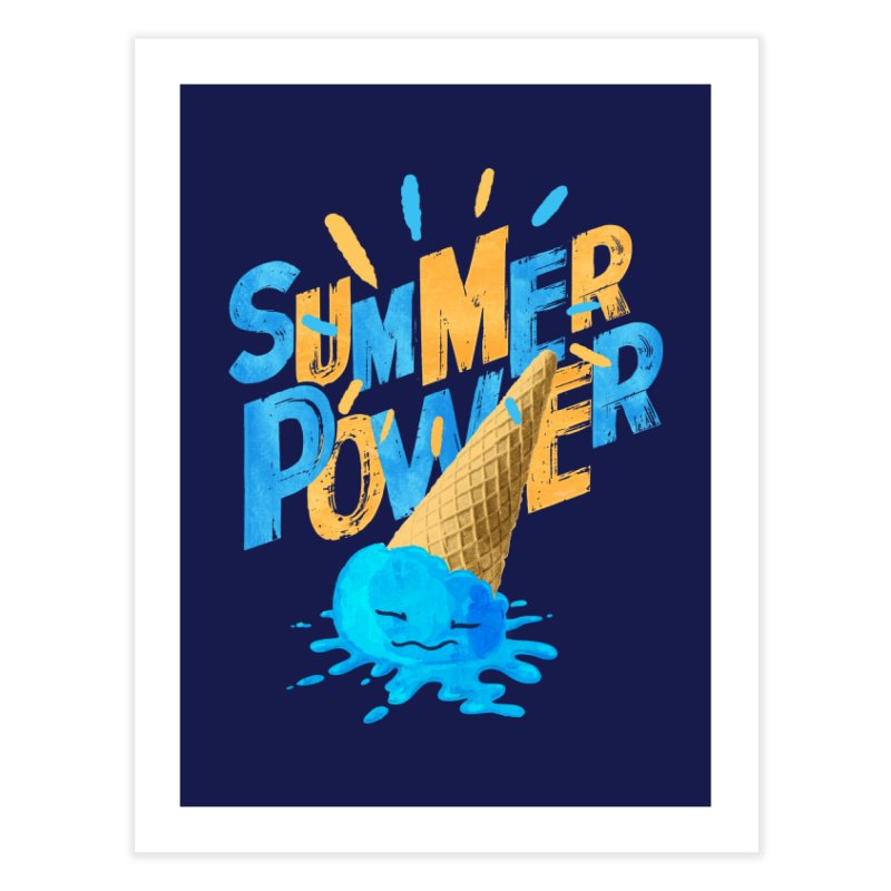 Summer Power Home Fine Art Print by Rocket Artist Shop