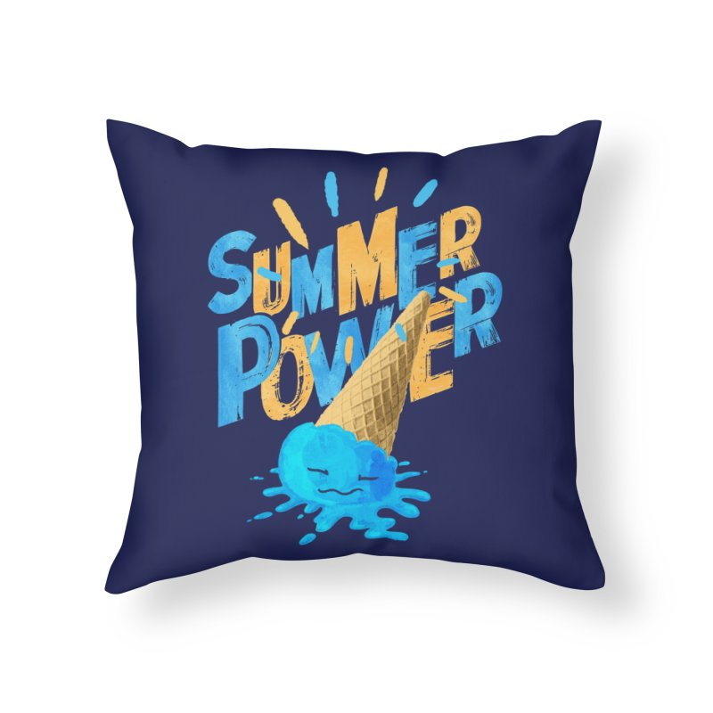 Summer Power Home Throw Pillow by Rocket Artist Shop