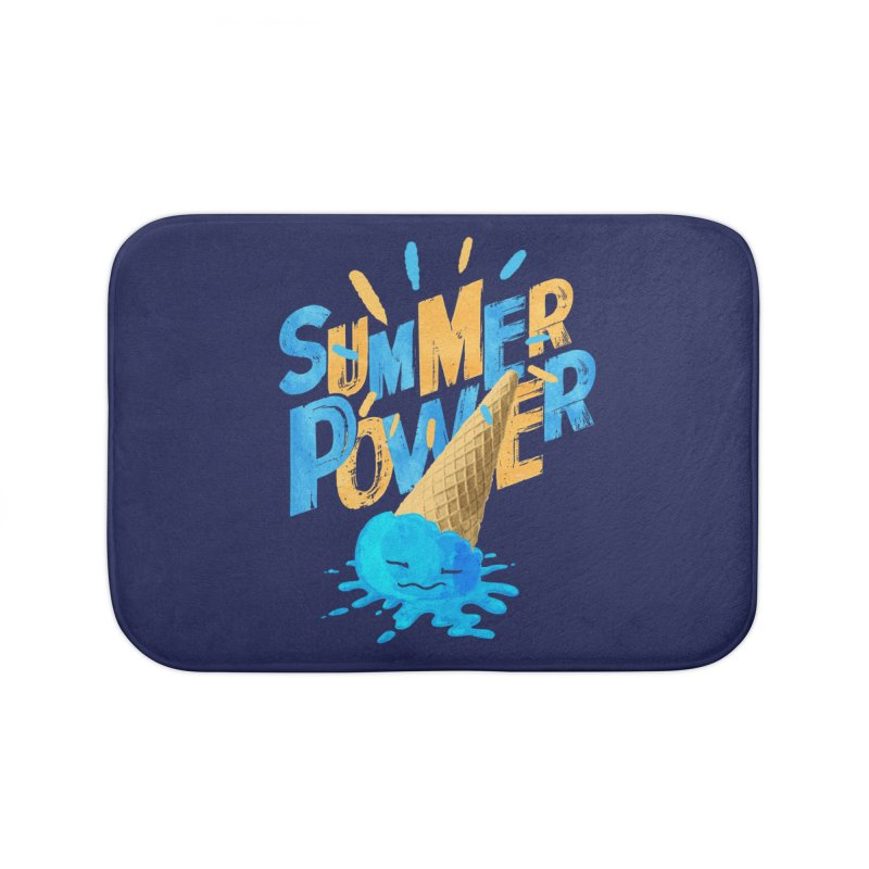 Summer Power Home Bath Mat by Rocket Artist Shop