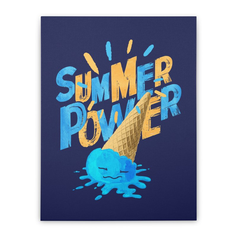 Summer Power Home Stretched Canvas by Rocket Artist Shop