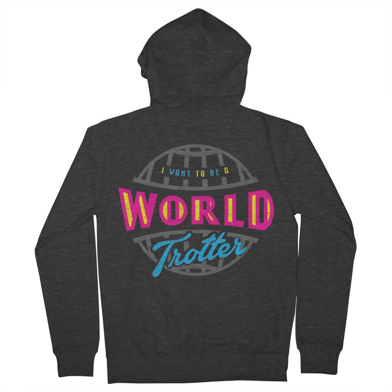Go Travel Women's French Terry Zip-Up Hoody by Rocket Artist Shop