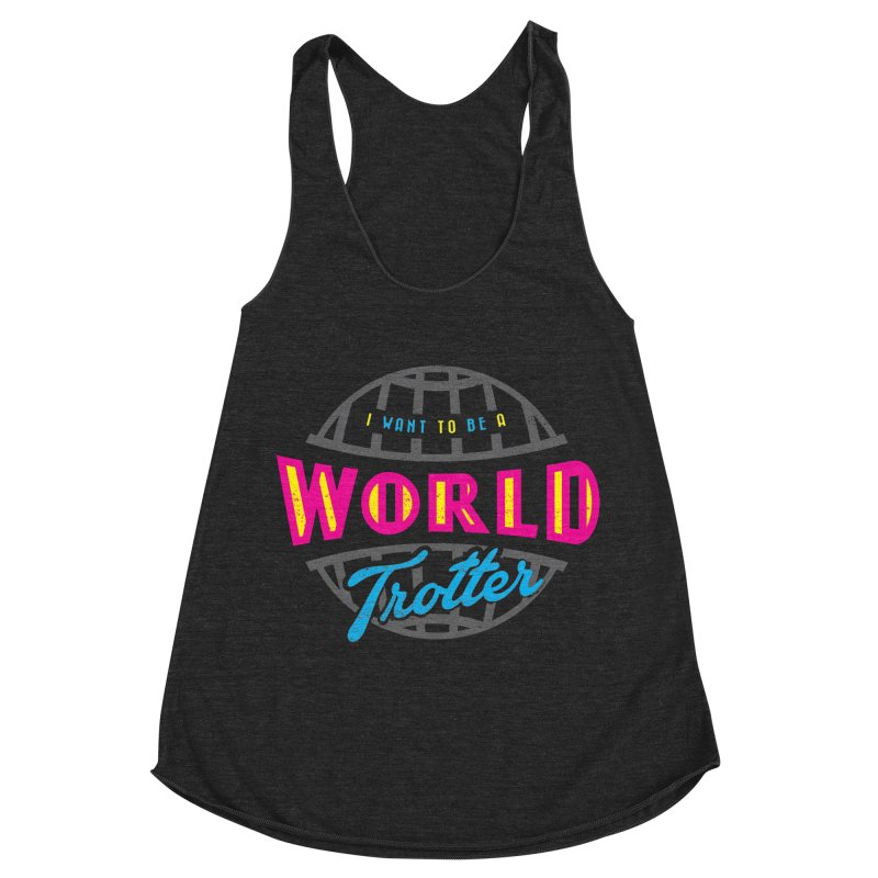 Go Travel Women's Racerback Triblend Tank by Rocket Artist Shop