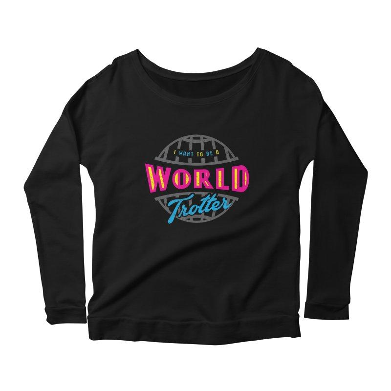Go Travel Women's Scoop Neck Longsleeve T-Shirt by Rocket Artist Shop