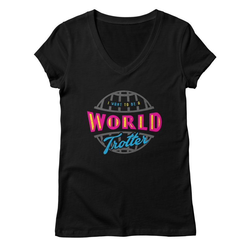 Go Travel Women's Regular V-Neck by Rocket Artist Shop