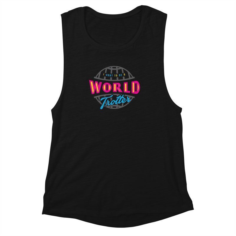 Go Travel Women's Muscle Tank by Rocket Artist Shop