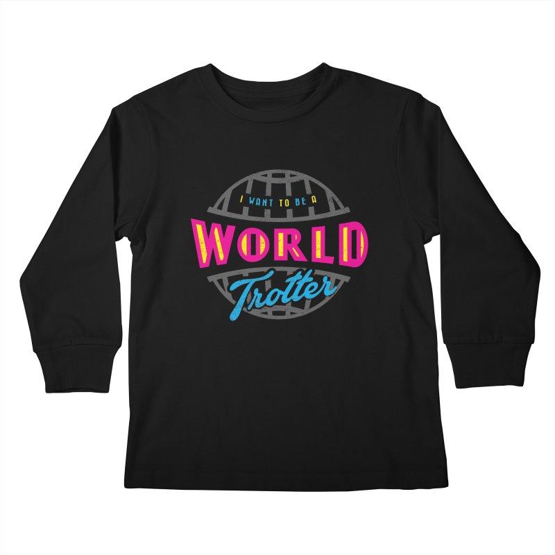 Go Travel Kids Longsleeve T-Shirt by Rocket Artist Shop
