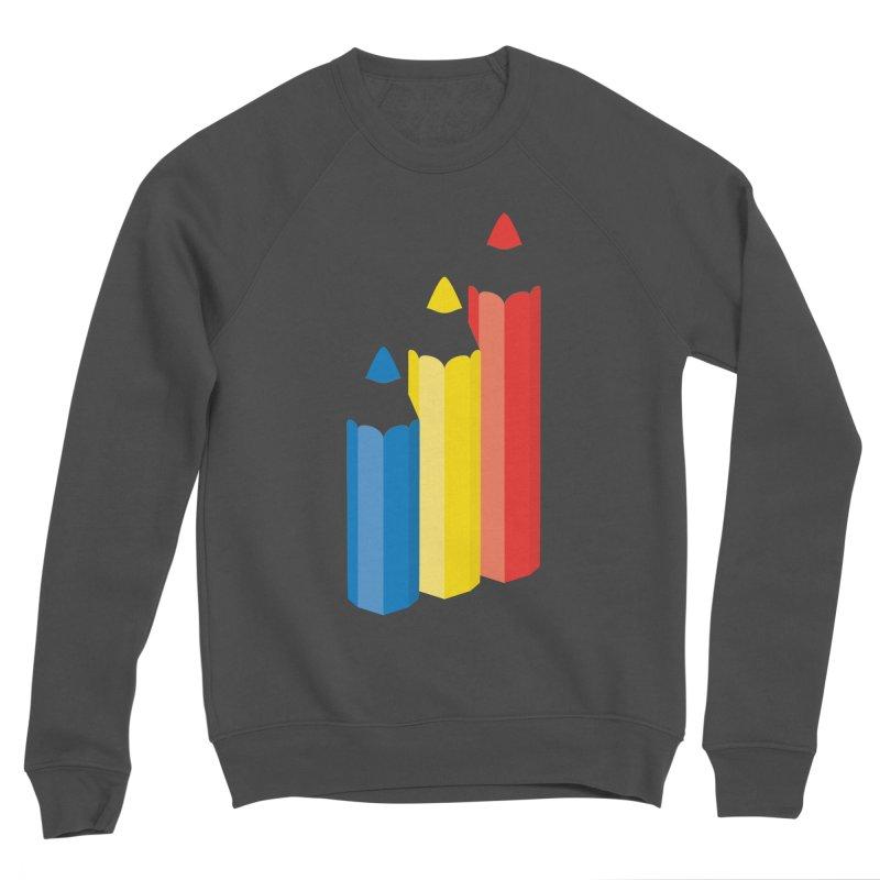 Primary Pencils Men's Sponge Fleece Sweatshirt by Rocket Artist Shop