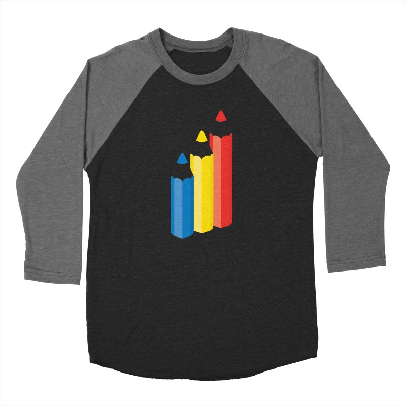 Primary Pencils Women's Baseball Triblend Longsleeve T-Shirt by Rocket Artist Shop