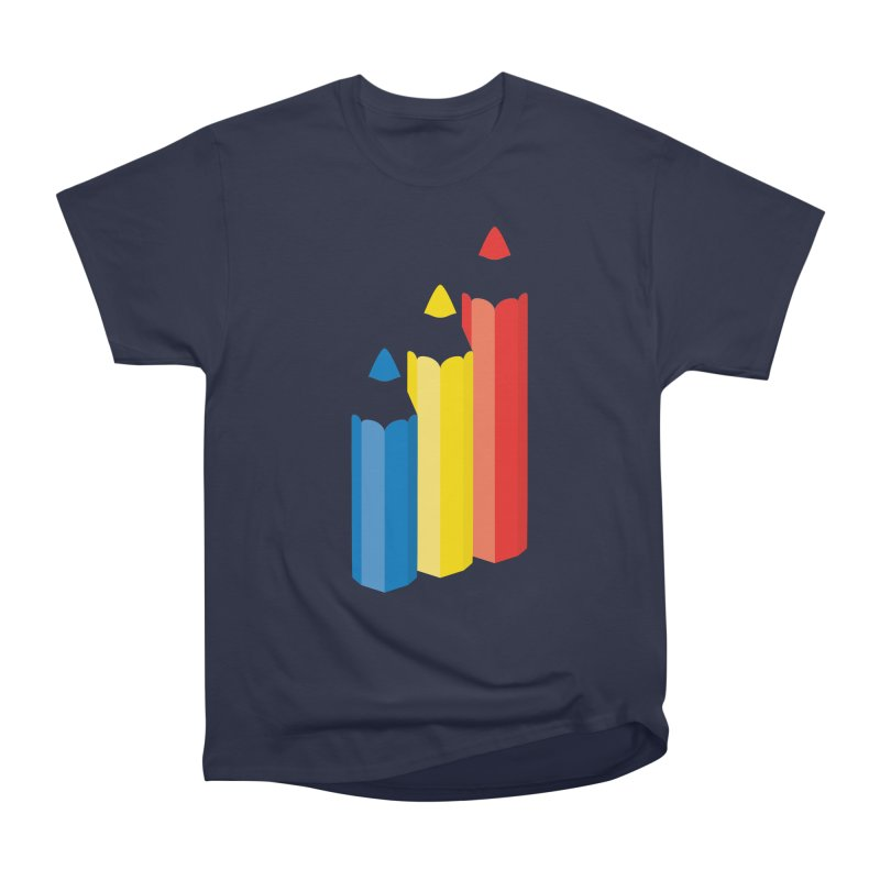 Primary Pencils Men's Heavyweight T-Shirt by Rocket Artist Shop