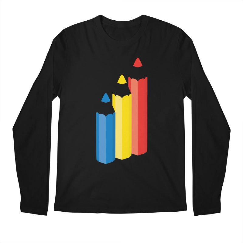 Primary Pencils Men's Regular Longsleeve T-Shirt by Rocket Artist Shop