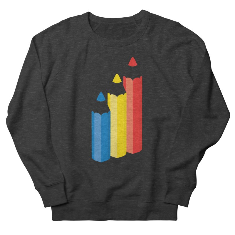 Primary Pencils Men's French Terry Sweatshirt by Rocket Artist Shop