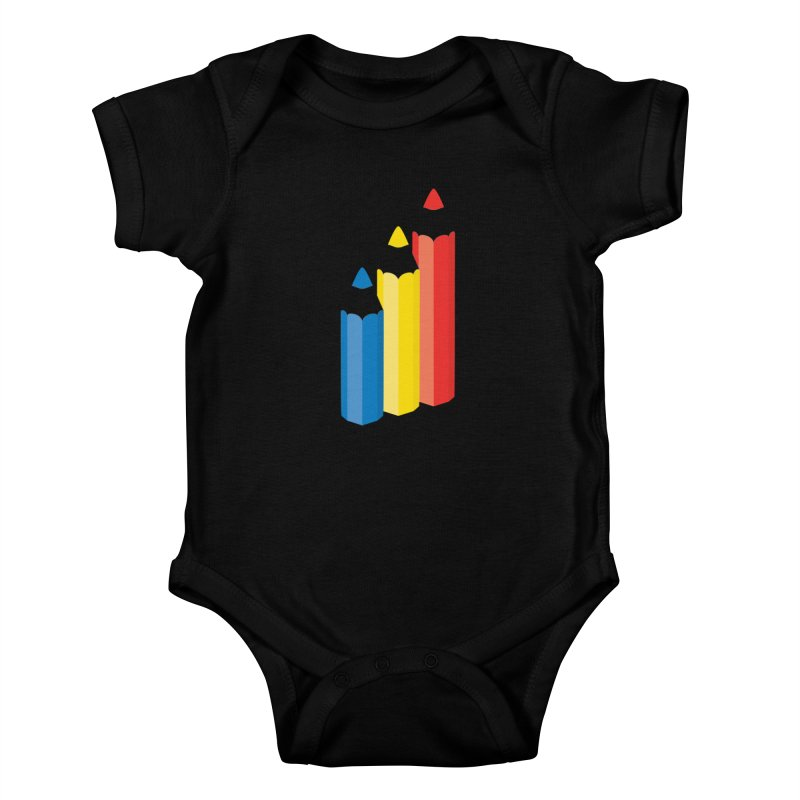 Primary Pencils Kids Baby Bodysuit by Rocket Artist Shop