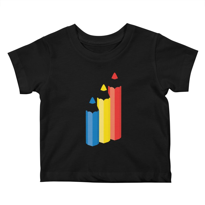 Primary Pencils Kids Baby T-Shirt by Rocket Artist Shop