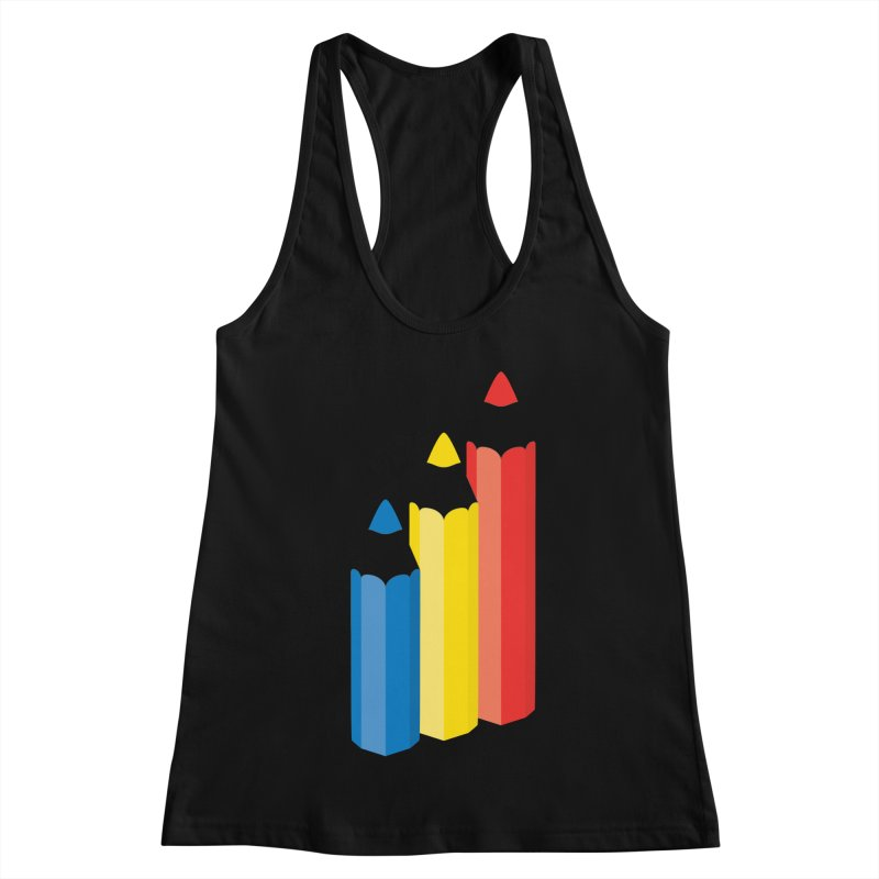 Primary Pencils Women's Racerback Tank by Rocket Artist Shop