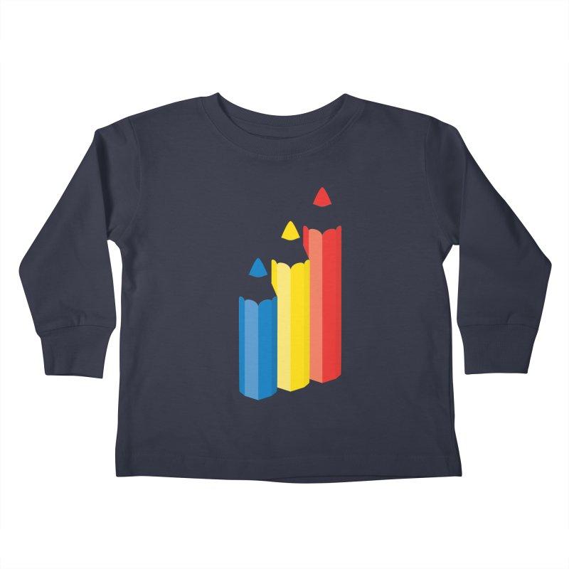 Primary Pencils Kids Toddler Longsleeve T-Shirt by Rocket Artist Shop