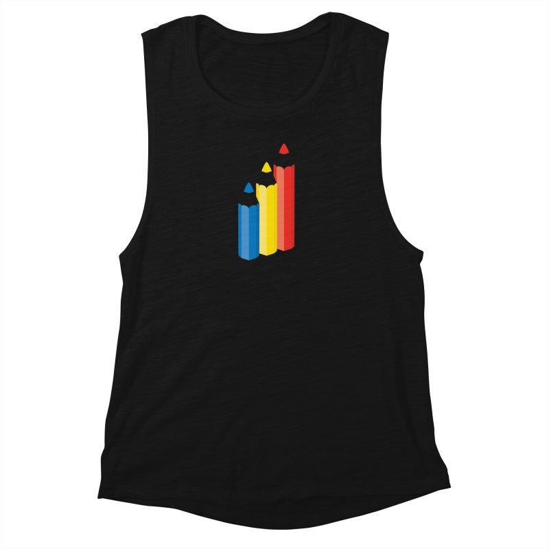 Primary Pencils Women's Tank by Rocket Artist Shop