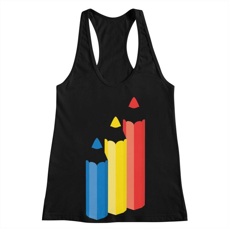 Primary Pencils Women's Racerback Tank by Rocket Artist Shop