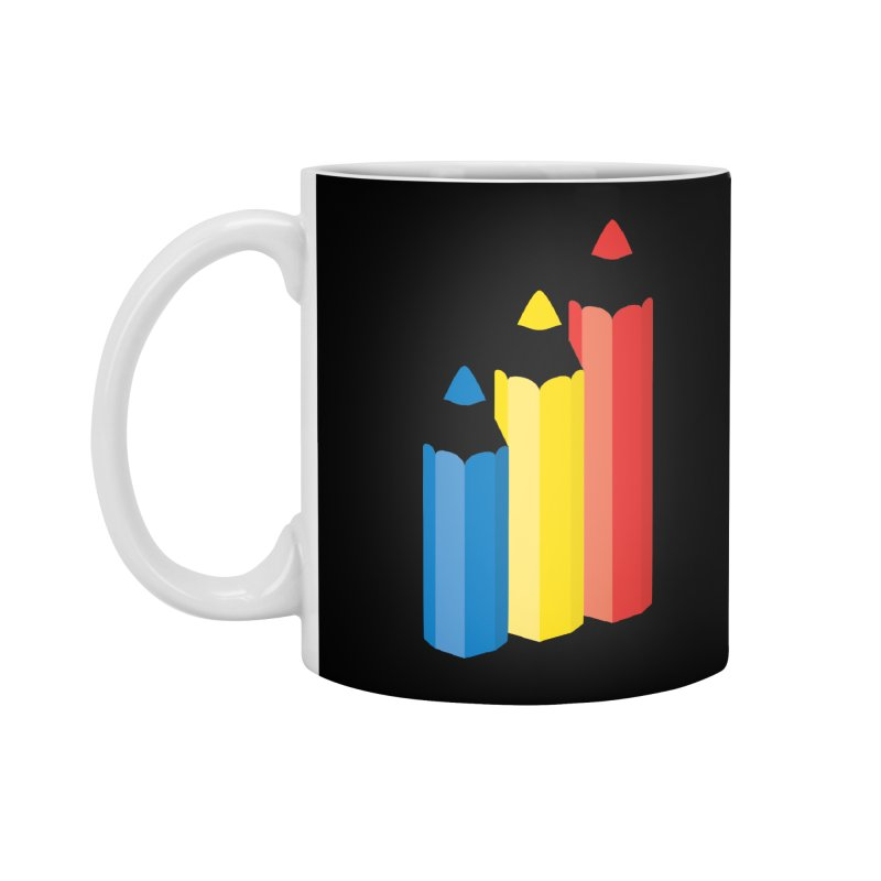 Primary Pencils Accessories Standard Mug by Rocket Artist Shop