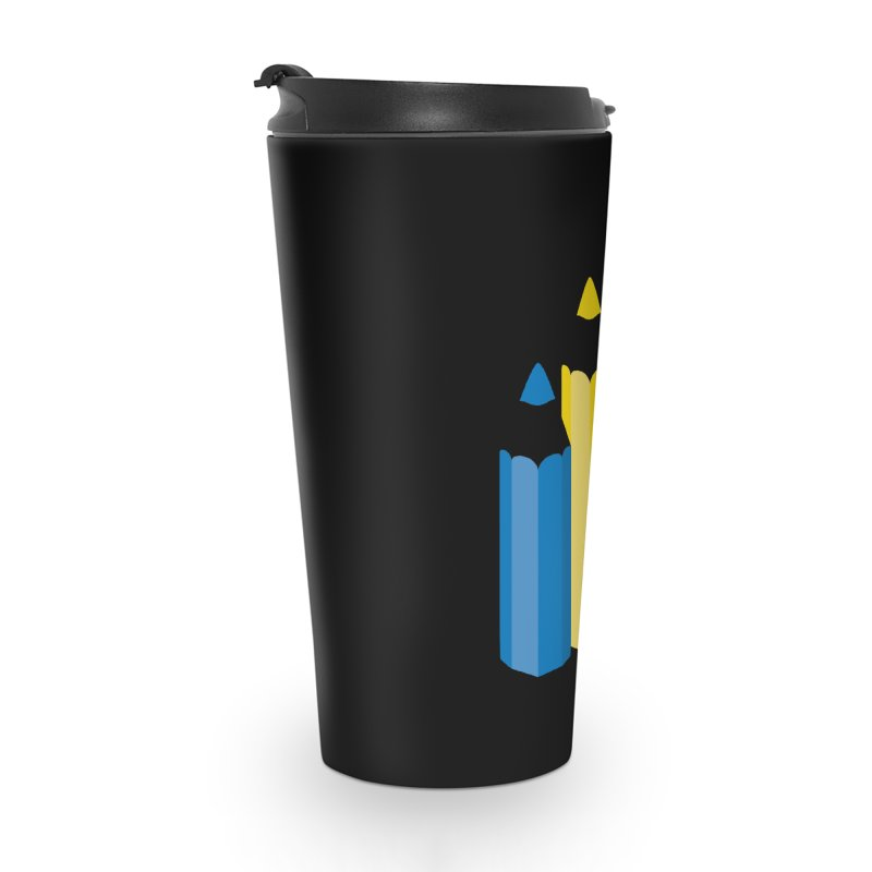 Primary Pencils Accessories Travel Mug by Rocket Artist Shop