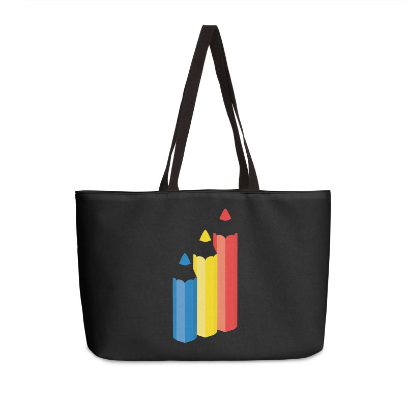 Primary Pencils Accessories Weekender Bag Bag by Rocket Artist Shop
