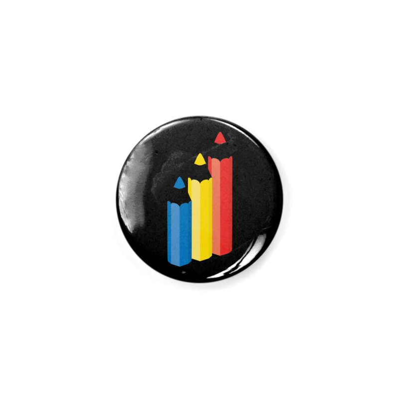 Primary Pencils Accessories Button by Rocket Artist Shop