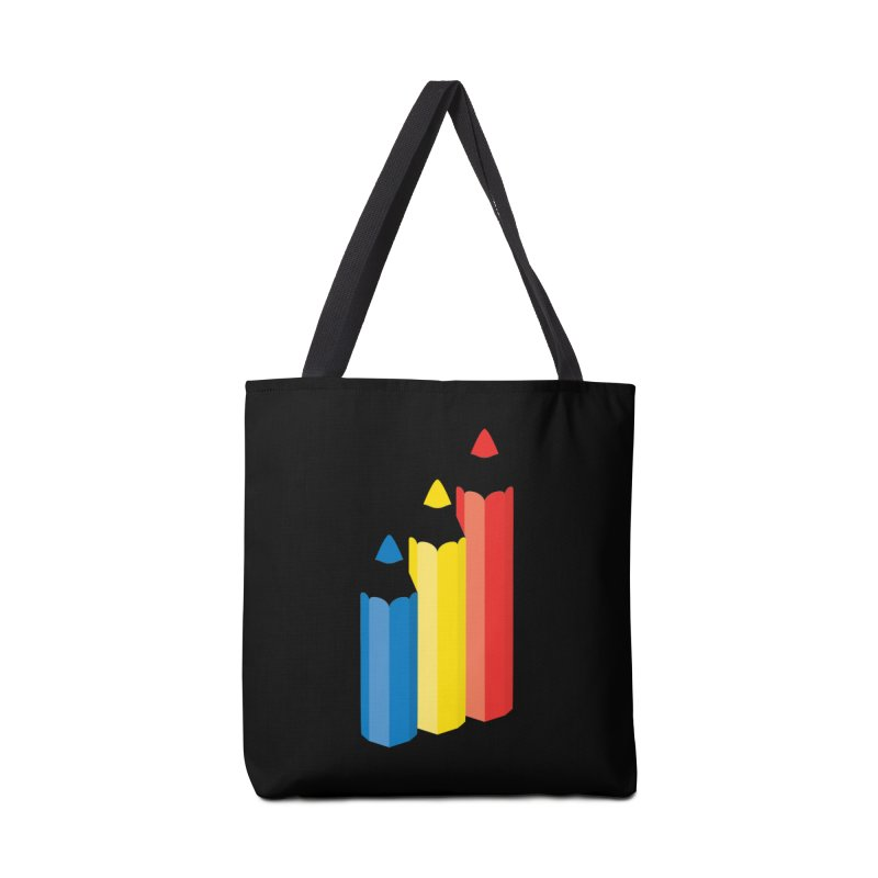 Primary Pencils Accessories Tote Bag Bag by Rocket Artist Shop