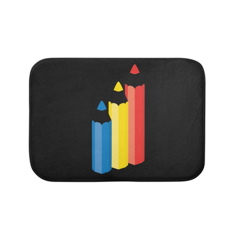 Primary Pencils Home Bath Mat by Rocket Artist Shop