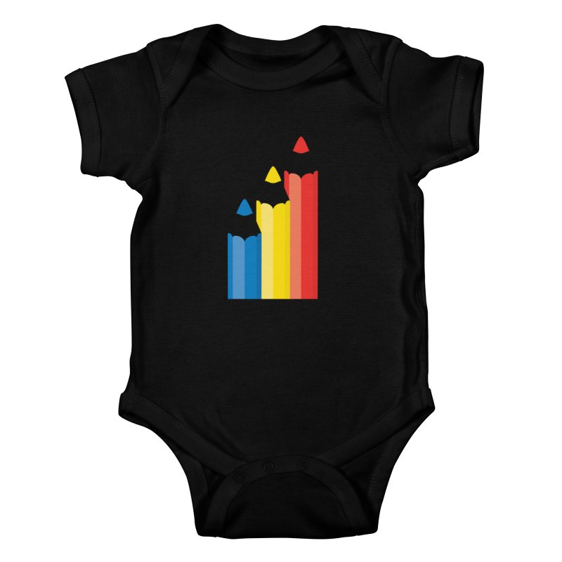 Basic Colors Kids Baby Bodysuit by Rocket Artist Shop