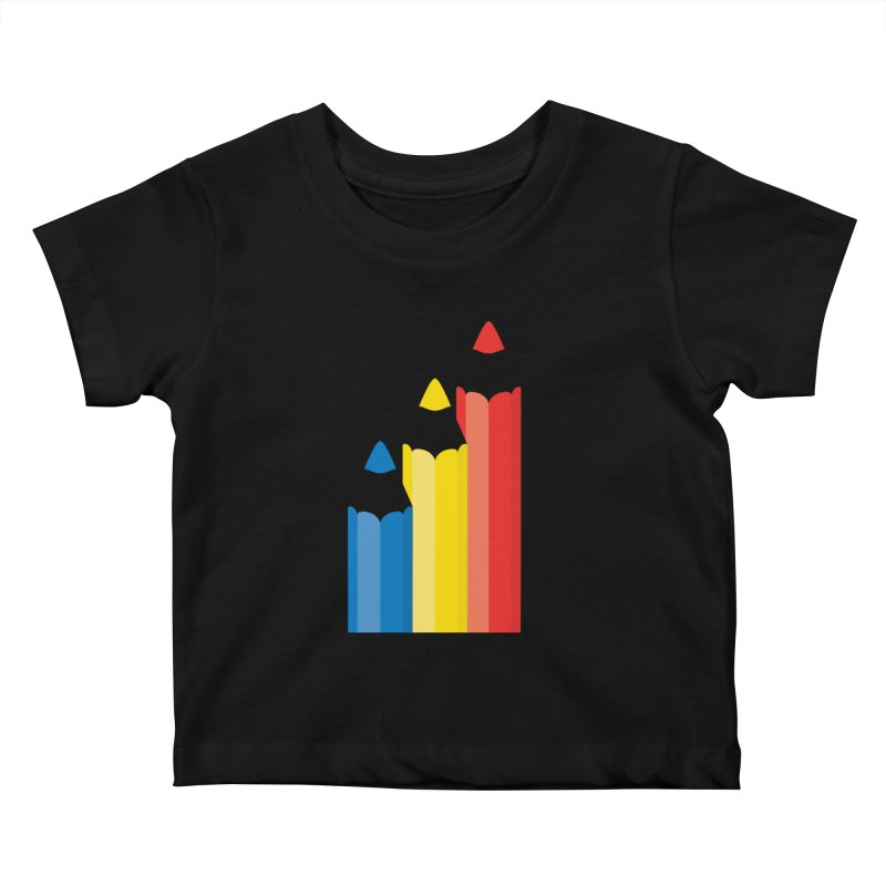 Basic Colors Kids Baby T-Shirt by Rocket Artist Shop