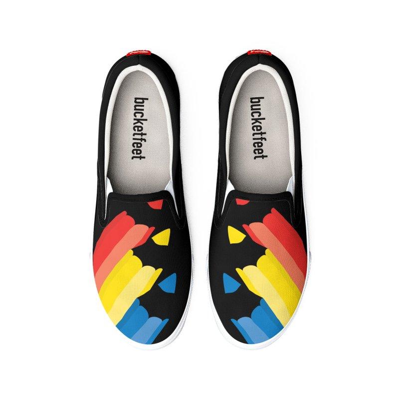 Primary Pencils Men's Shoes by Rocket Artist Shop