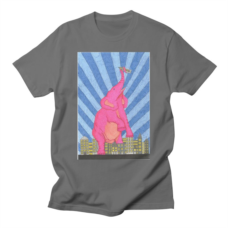 Pink Elephant in the Room Men's T-Shirt by RockfishWildlifeSanctuary's Artist Shop