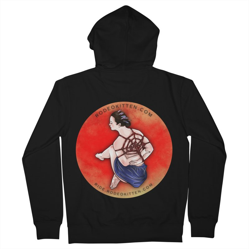 The Web Women's Zip-Up Hoody by Rodeo Kitten's Swag Shop