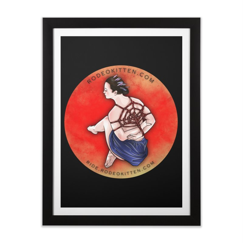 The Web Home Framed Fine Art Print by Rodeo Kitten's Swag Shop