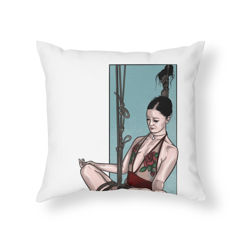 Balancing Act Home Throw Pillow by Rodeo Kitten's Swag Shop
