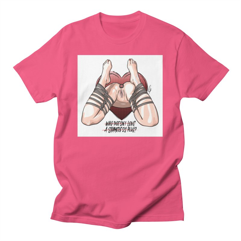 Shameless Plug Men's T-Shirt by Rodeo Kitten's Swag Shop