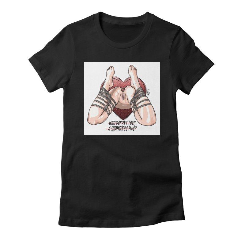Shameless Plug Women's T-Shirt by Rodeo Kitten's Swag Shop