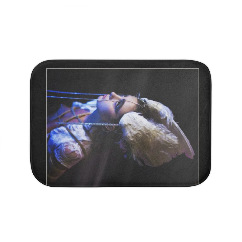 Bathing in Darkness Home Bath Mat by Rodeo Kitten's Swag Shop