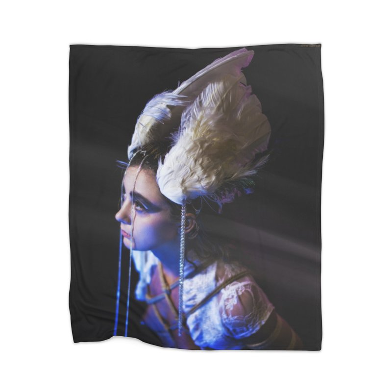 Bathing in Darkness Home Blanket by Rodeo Kitten's Swag Shop