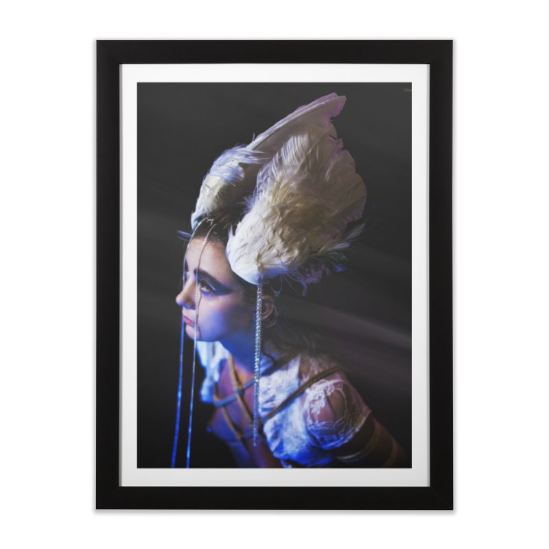 Bathing in Darkness Home Framed Fine Art Print by Rodeo Kitten's Swag Shop