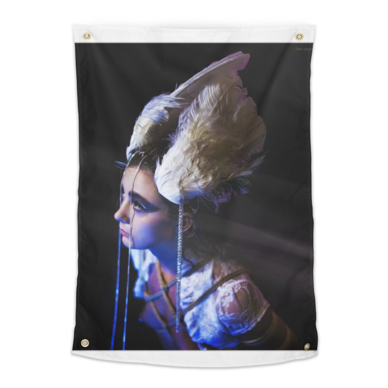 Bathing in Darkness Home Tapestry by Rodeo Kitten's Swag Shop