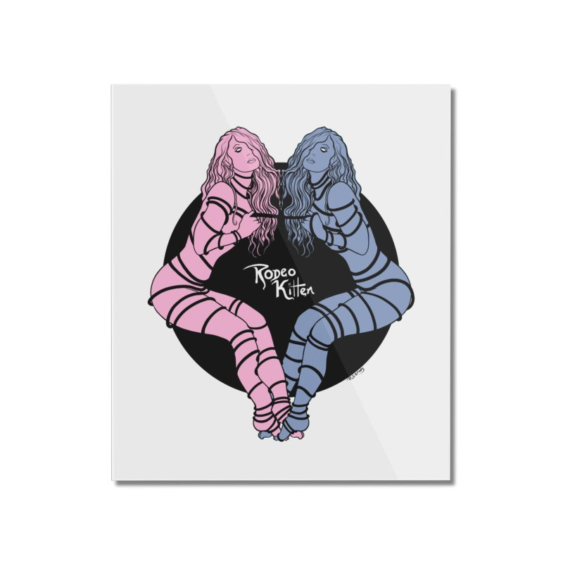 Seeing Double Home Mounted Acrylic Print by Rodeo Kitten's Swag Shop