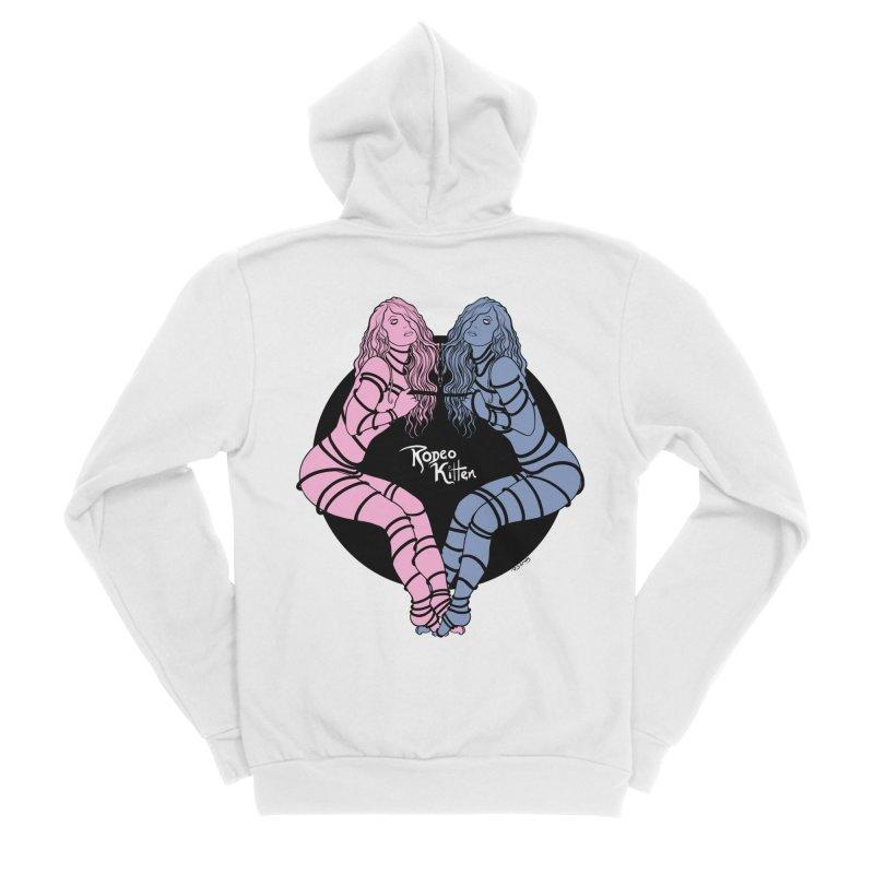 Seeing Double Men's Zip-Up Hoody by Rodeo Kitten's Swag Shop